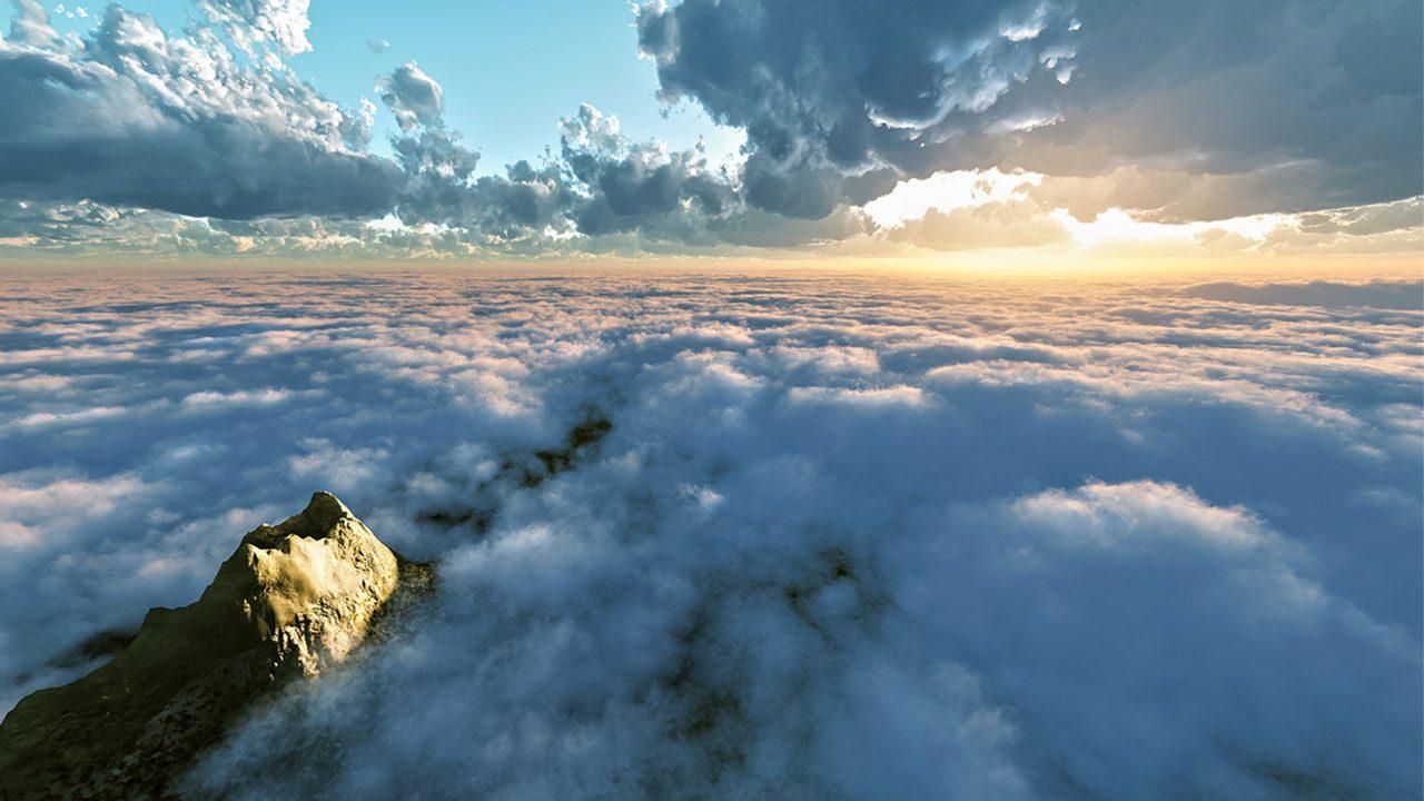 Hình ảnh mây ở vùng cao