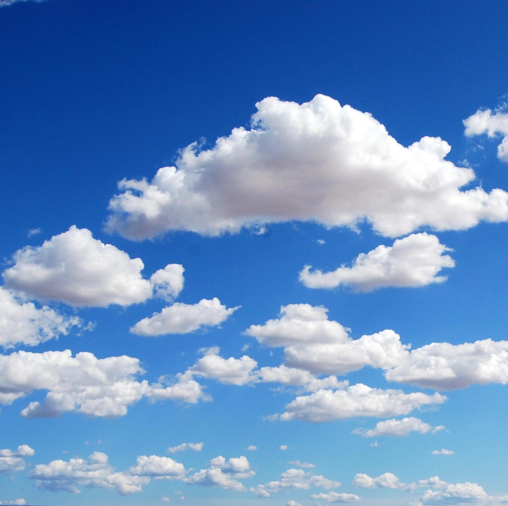 Hình ảnh mây trắng trời xanh rất đẹp
