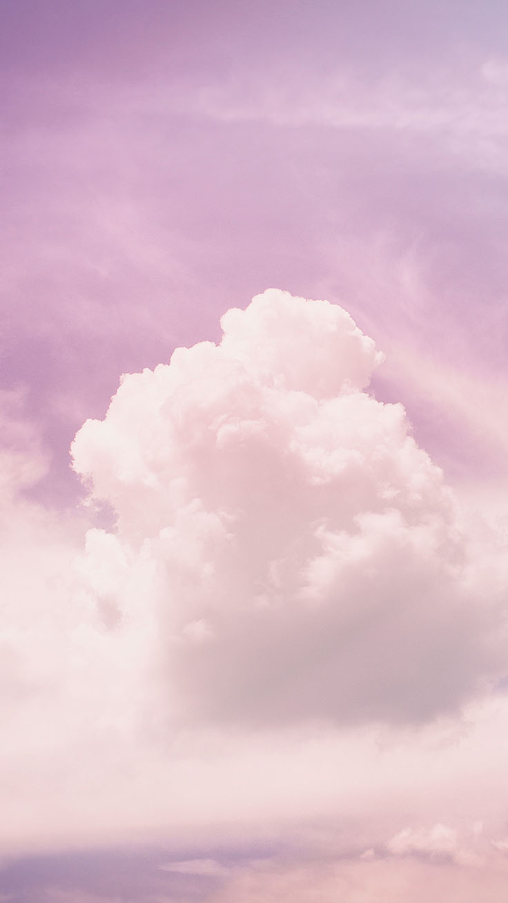 Hình ảnh trời hồng mây trắng