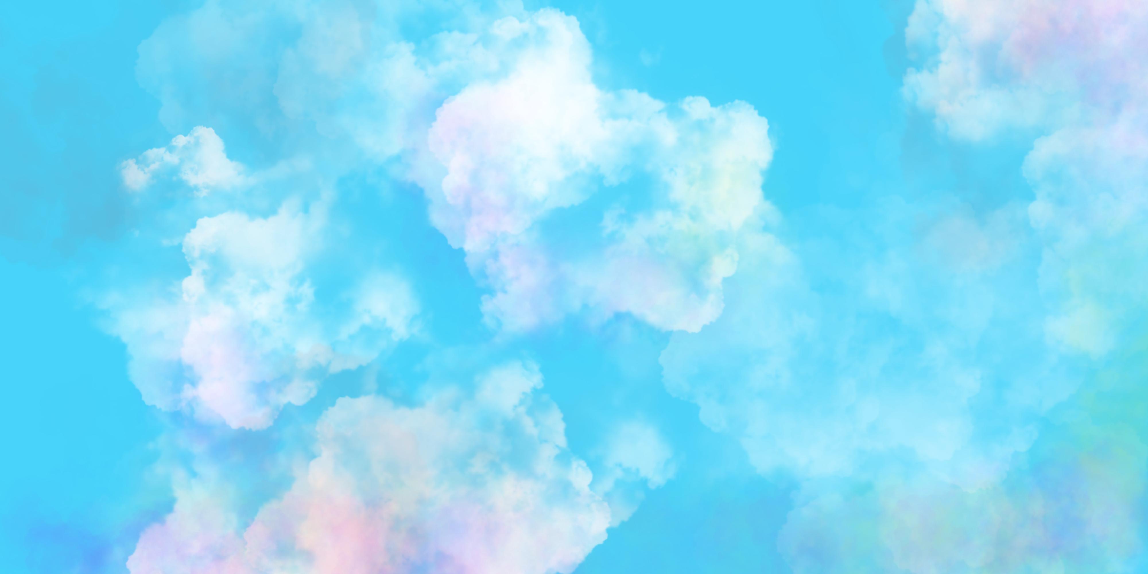 Hình ảnh trời mây đốm hồng cực đẹp