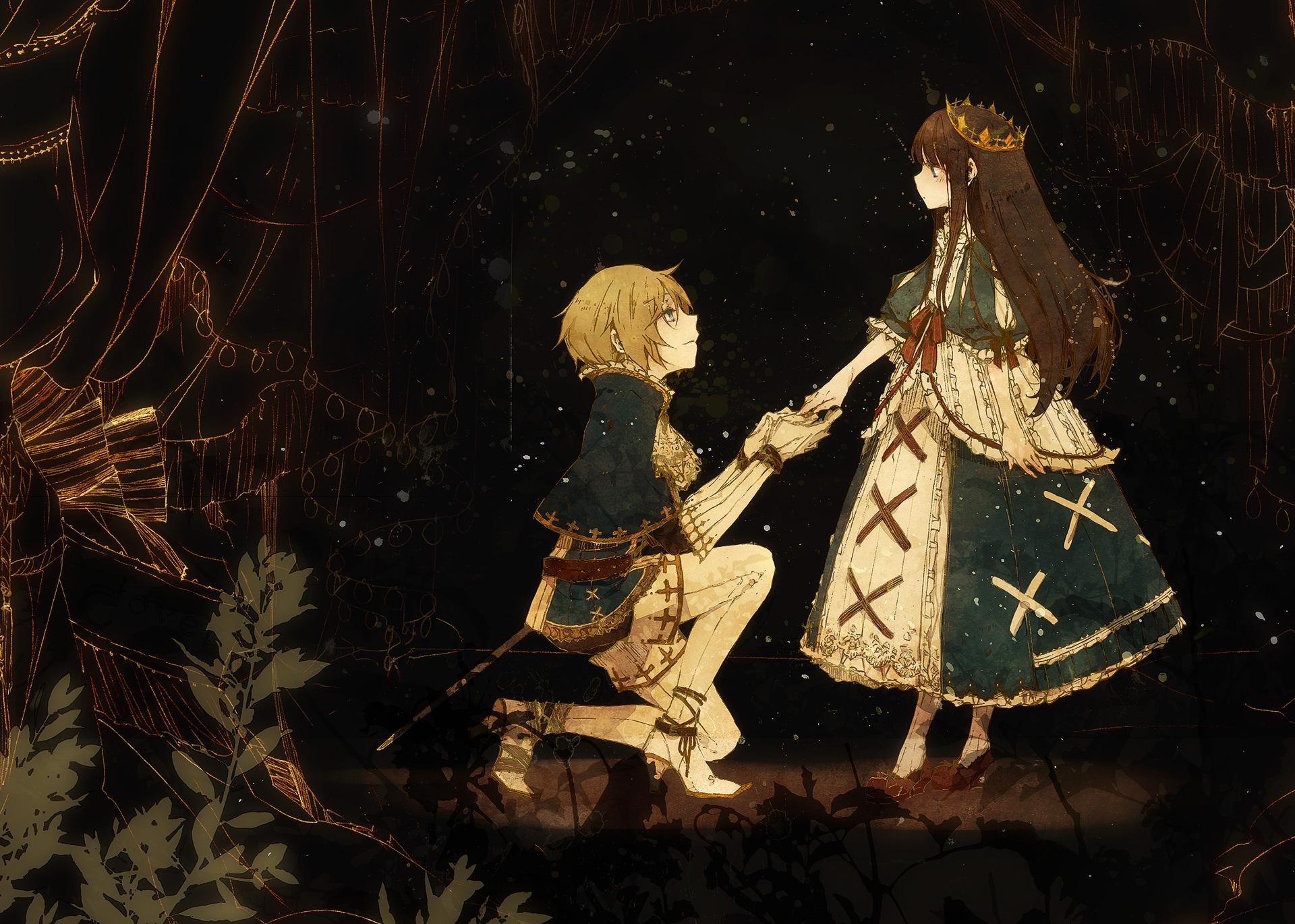 Hình anime cực đẹp công chúa và chàng kỵ sĩ