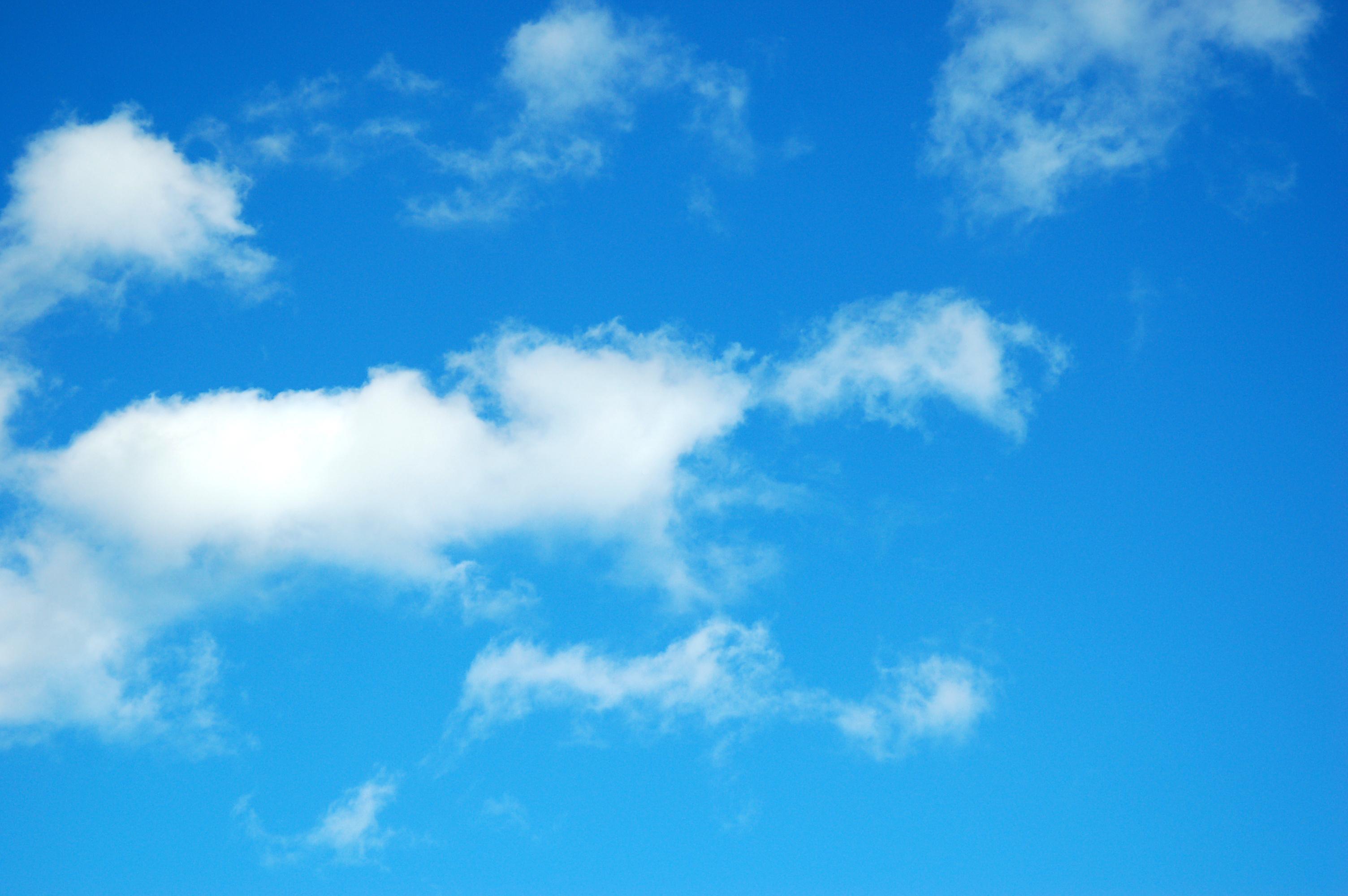 Hình trời xanh rì mây trắng phau