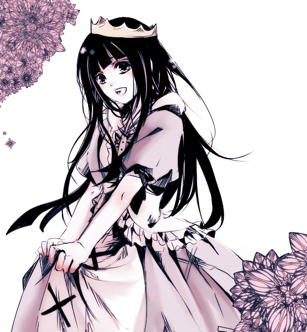 Tranh anime cô công chúa đeo vương miện rất xinh xắn