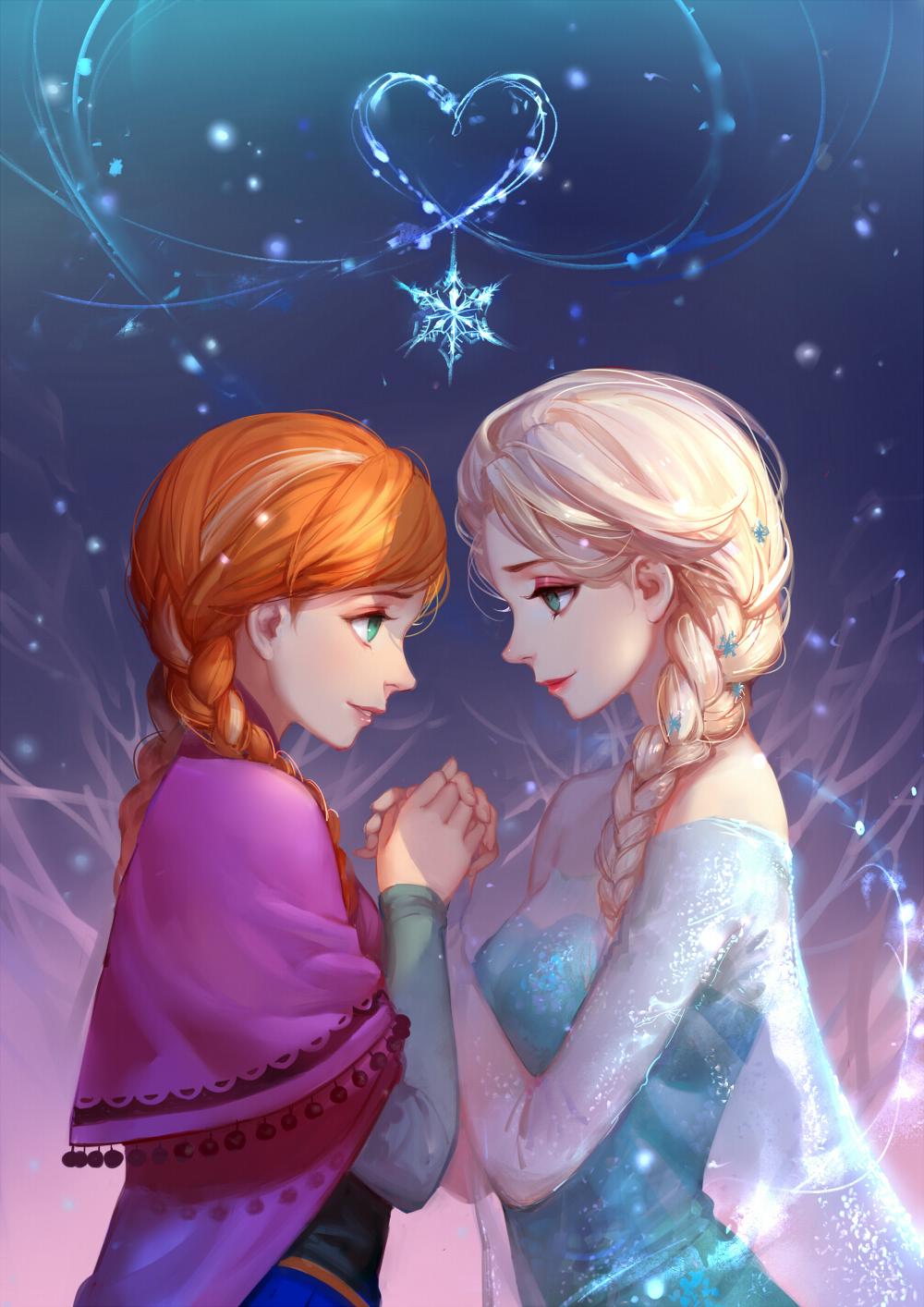 Tranh anime cô công chúa Elsa