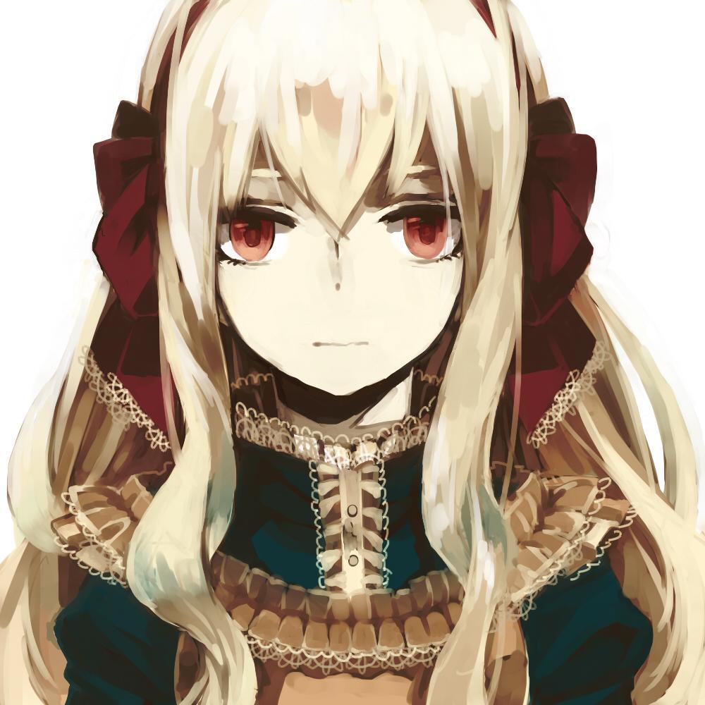 Tranh anime cô công chúa mắt đỏ