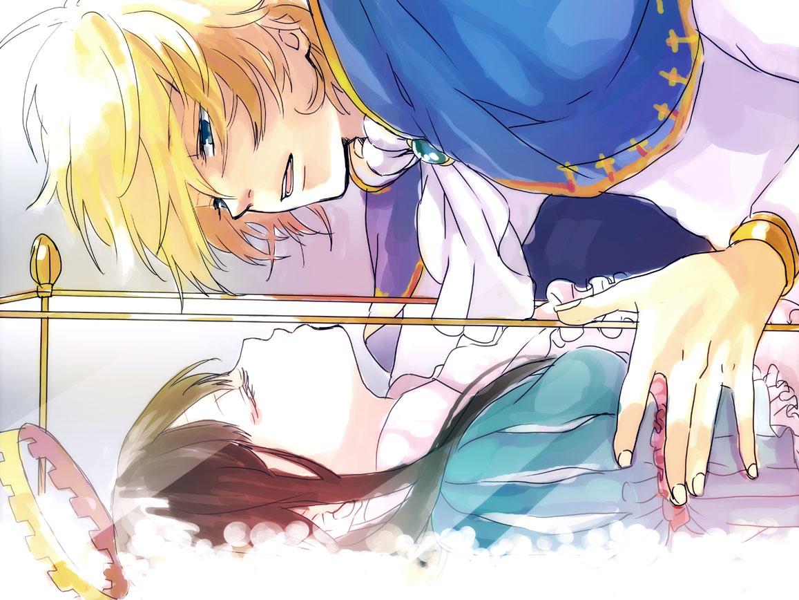 Tranh anime cô công chúa ngủ trong rừng