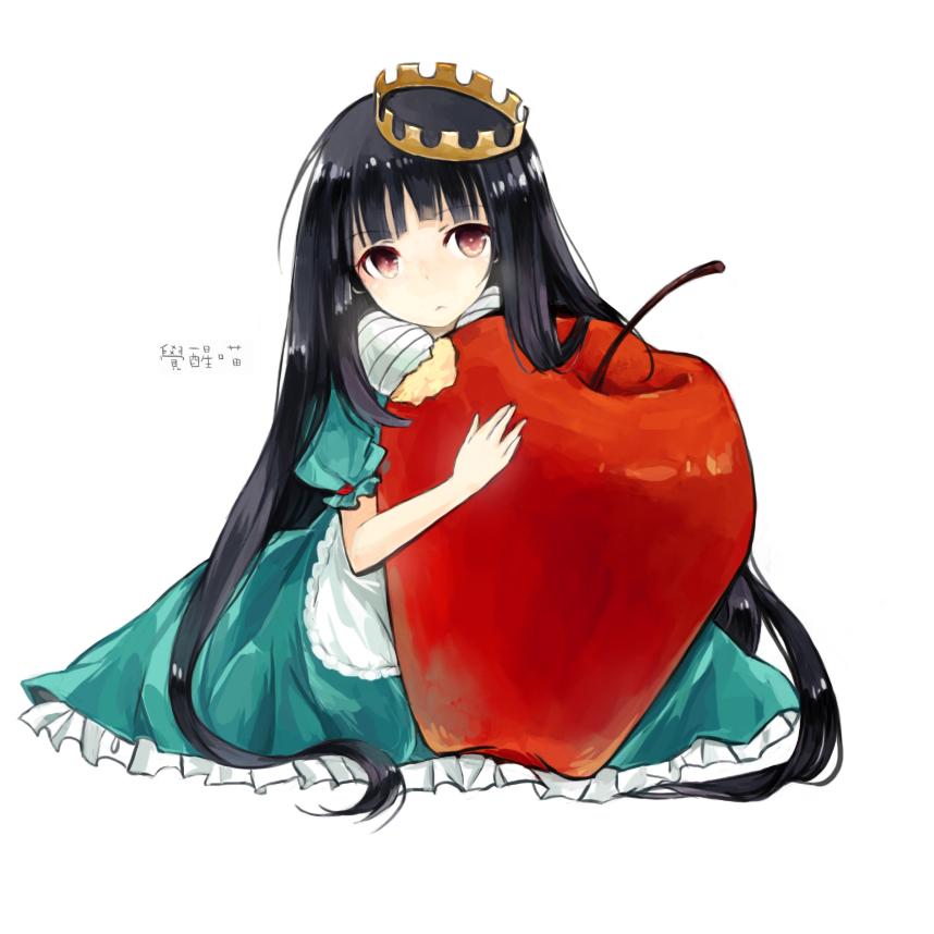 Tranh anime cô công chúa ôm táo đỏ