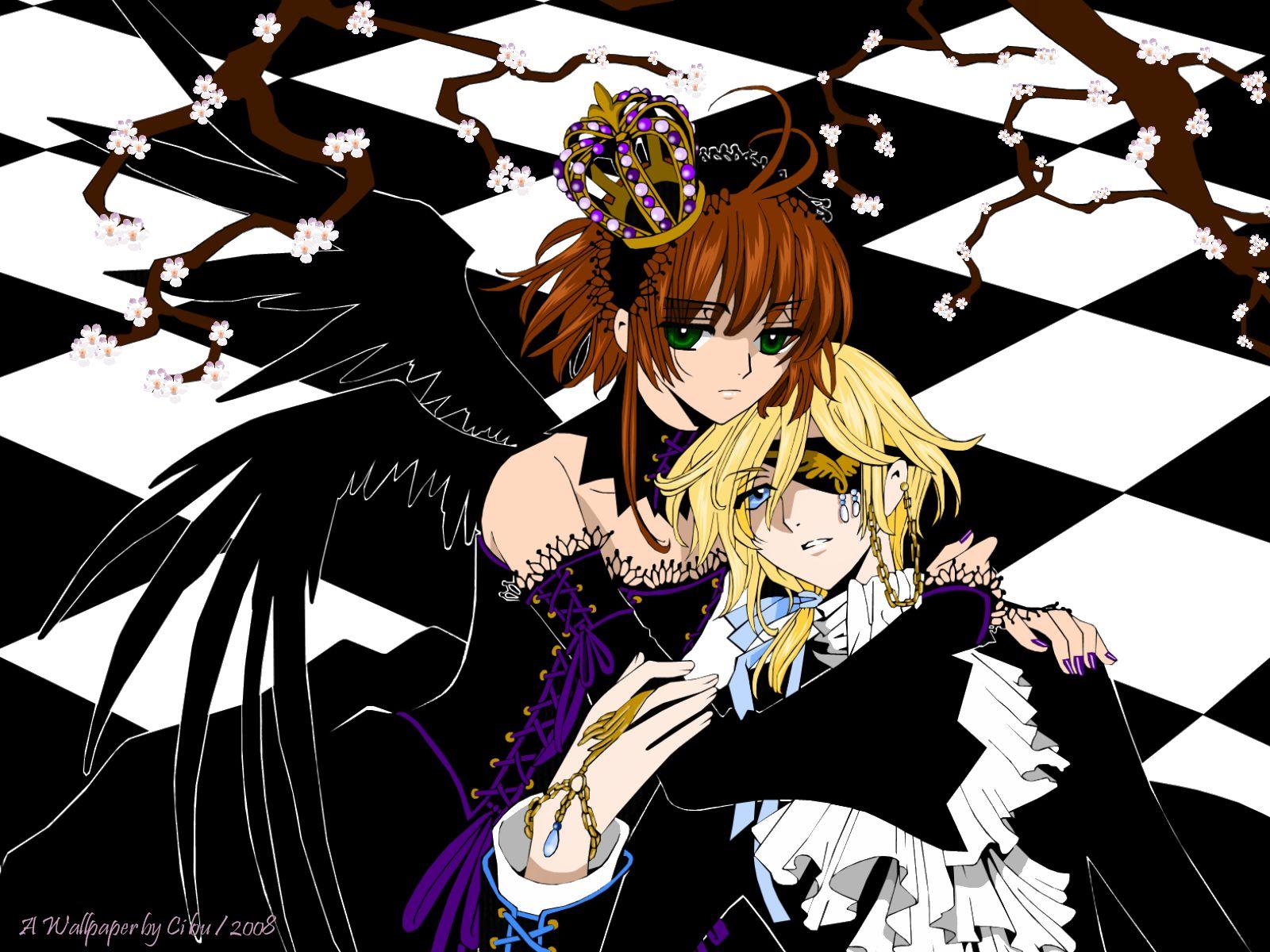 Tranh anime cô công chúa tóc nâu