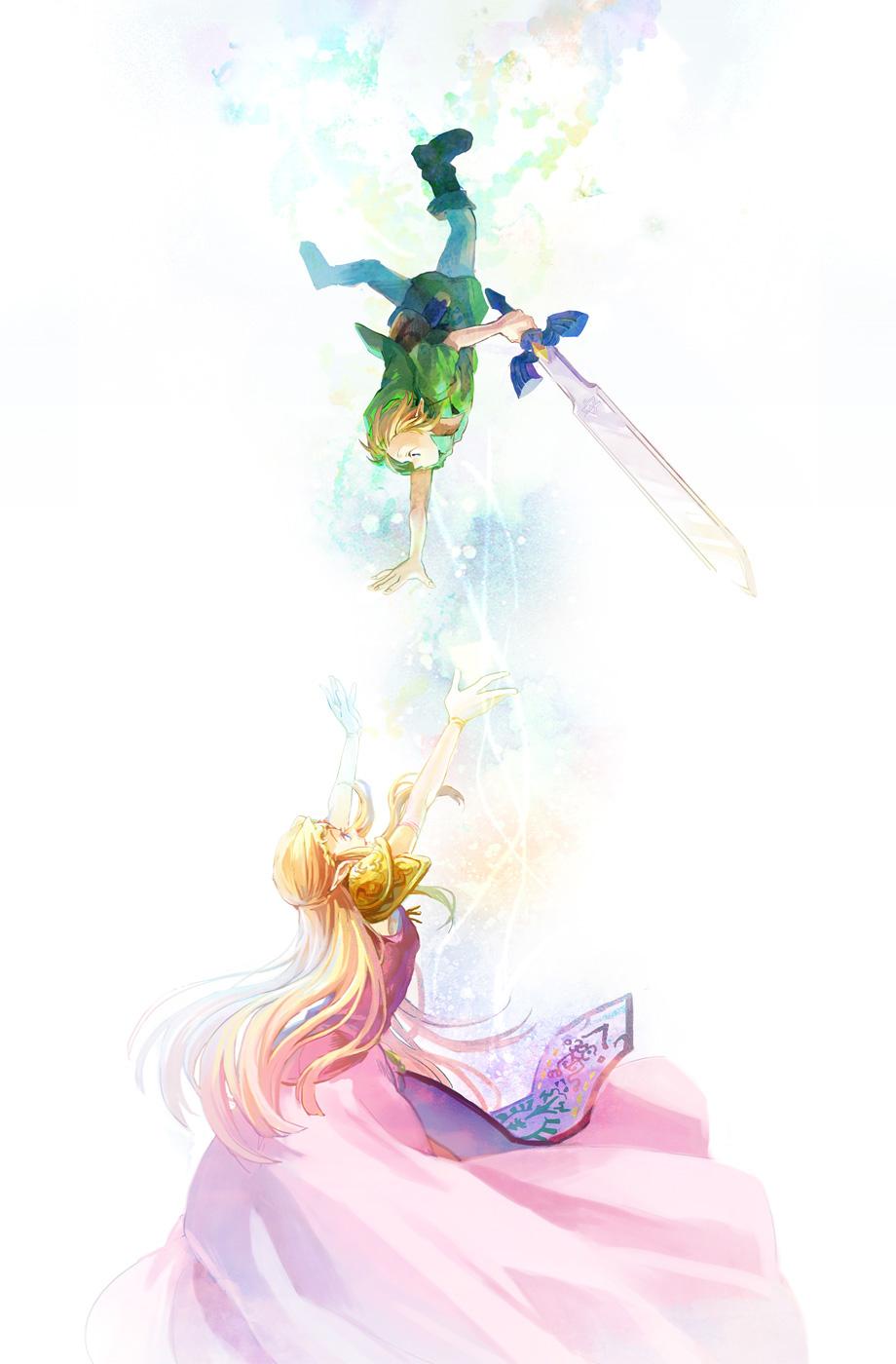 Tranh anime cô công chúa tóc vàng