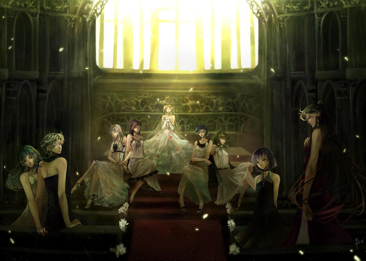 Tranh anime cô công chúa trong thánh đường