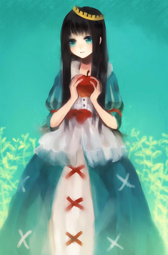 Tranh anime công chúa Bạch Tuyết xinh đẹp