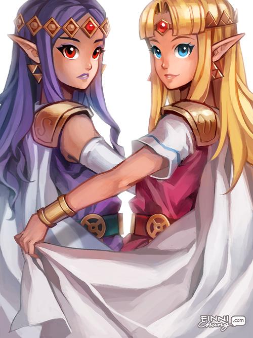 Tranh anime hai cô công chúa