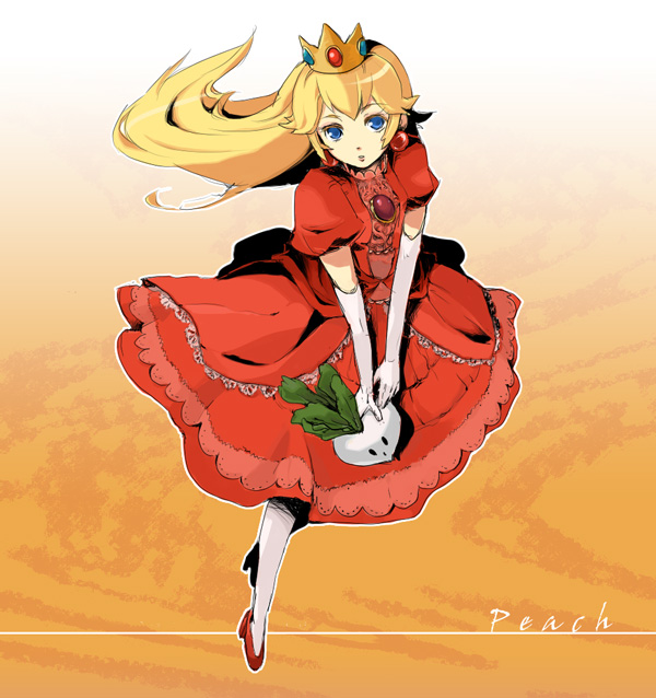 Tranh vẽ anime công chúa xinh đẹp tóc vàng