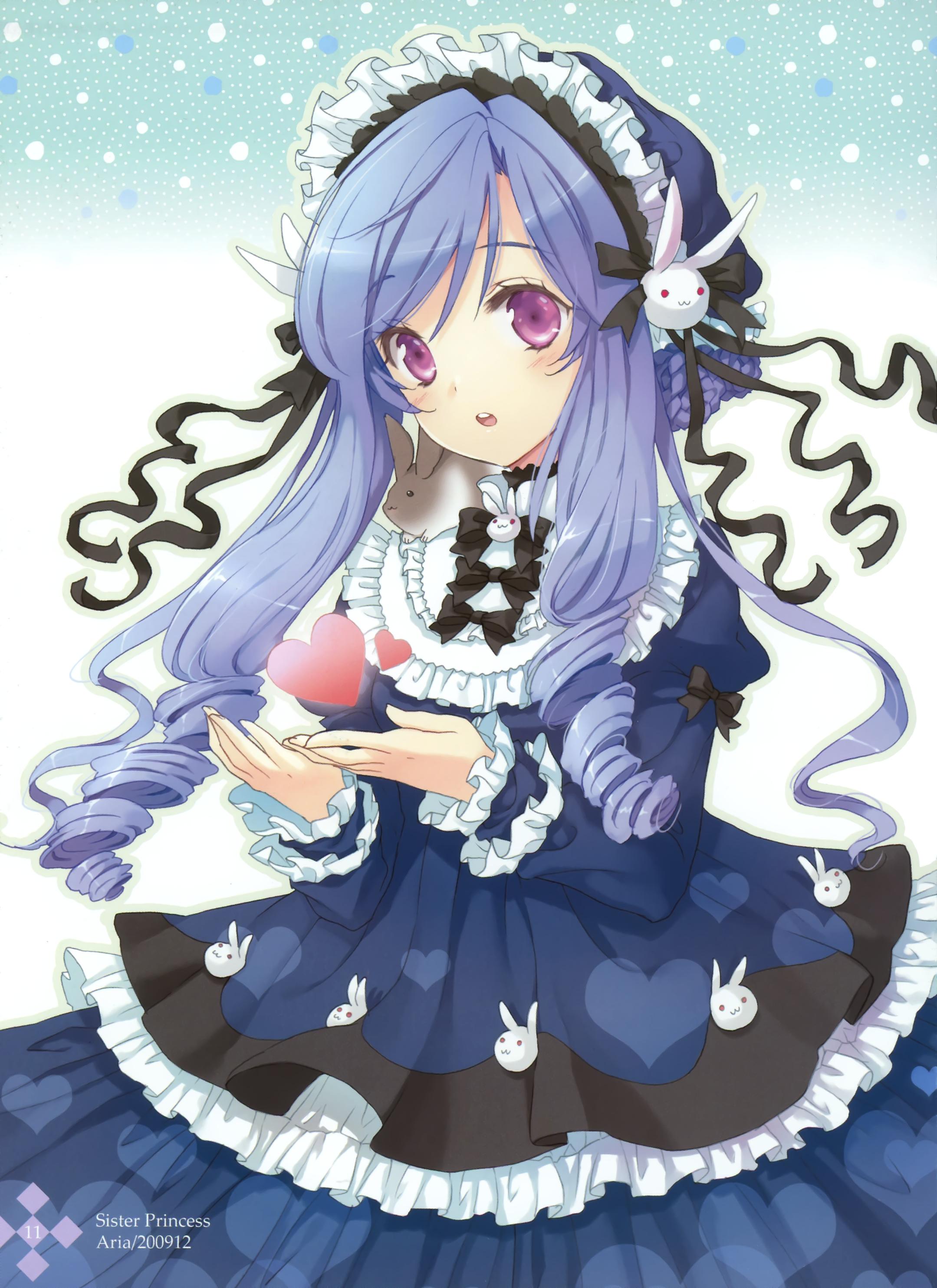 Tranh vẽ cô công chúa tóc tím cực xinh