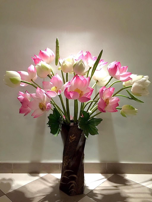 Hình ảnh cắm hoa sen cực đẹp