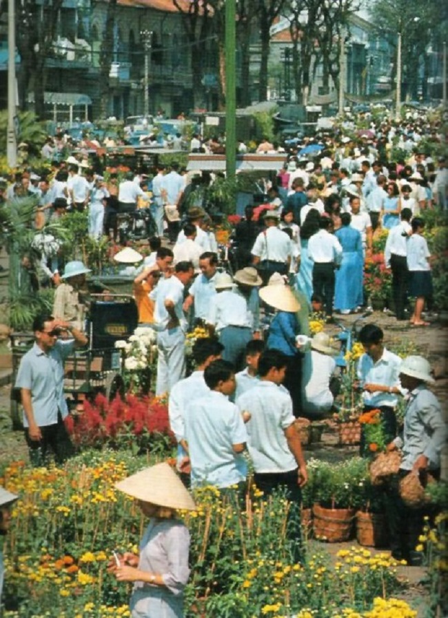 Hình ảnh chợ hoa tết xưa