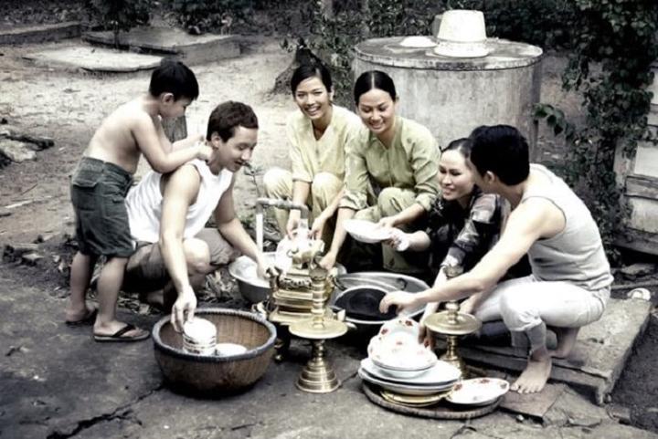Hình ảnh gia đình tết xưa