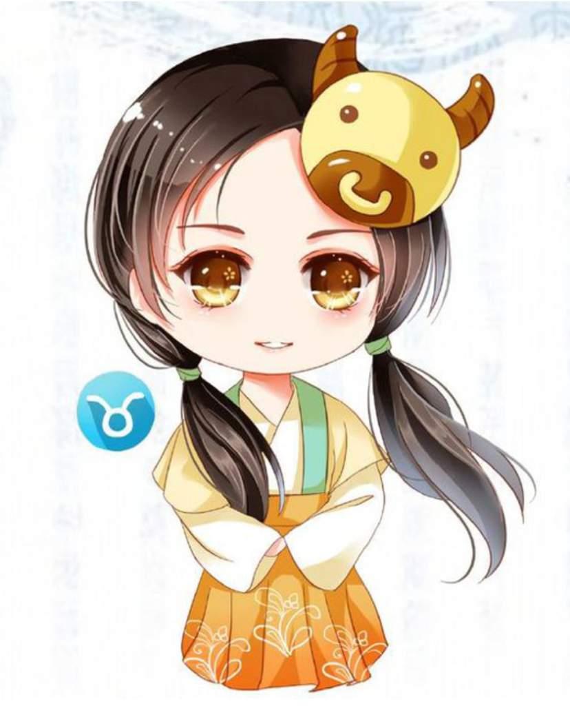 Chibi 12 Cung hoàng đạo nữ dễ thương - Kim Ngưu