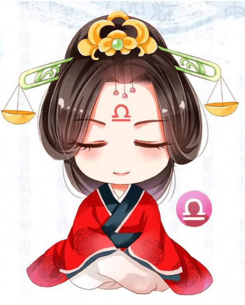 Chibi 12 Cung hoàng đạo nữ dễ thương - Thiên Bình