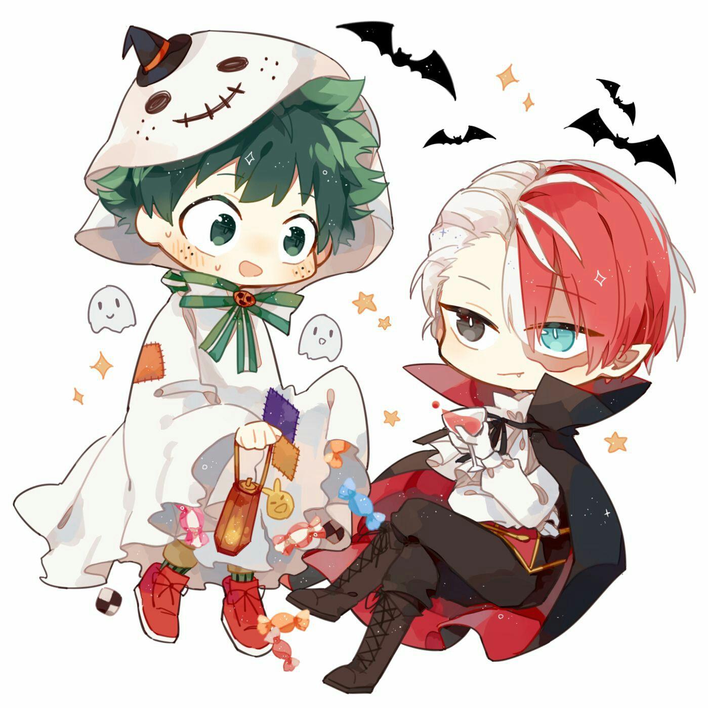 Hình ảnh Happy Halloween Chibi Cute