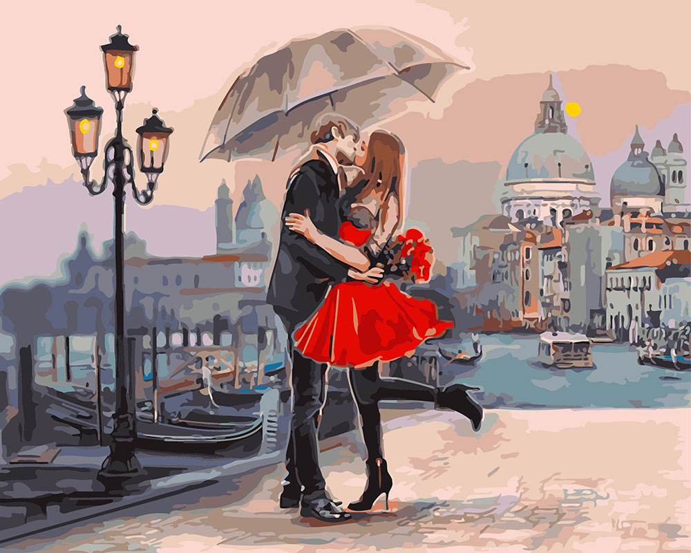 Hình ảnh kiss nhau dưới ô