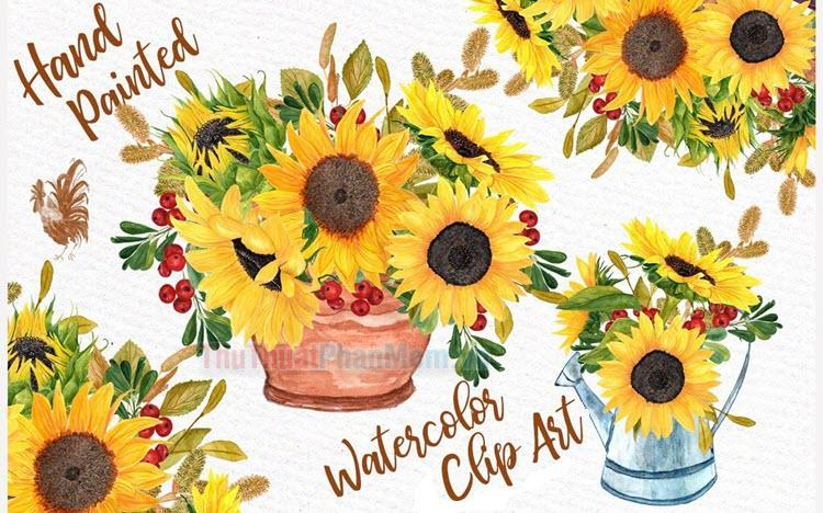 50+ Tranh vẽ hoa hướng dương cực đẹp