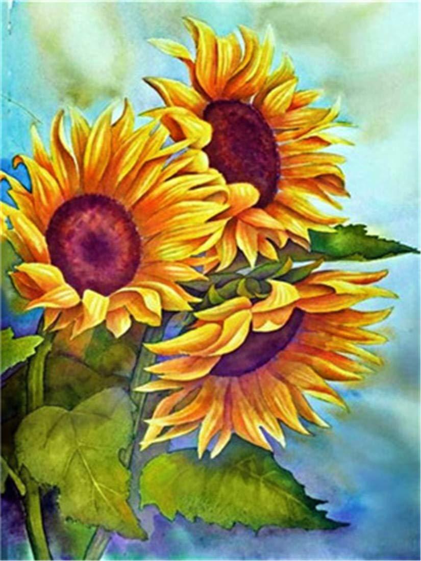 Bộ tranh vẽ hoa hướng dương cực đẹp