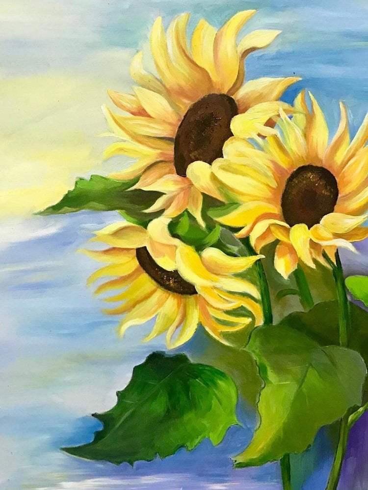 Bức tranh lời tỏ tình của hoa hướng dương