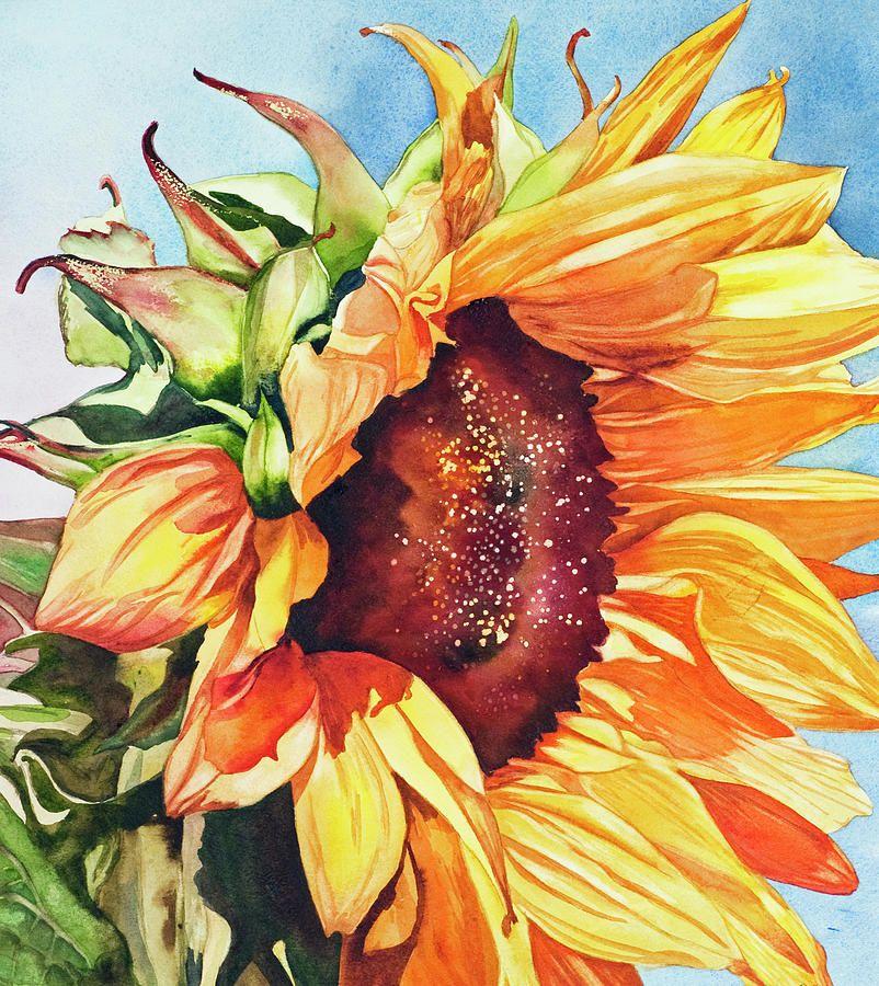 Bức vẽ hoa hướng dương độc đáo