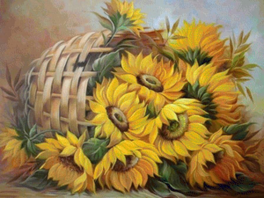 Bức vẽ hoa hướng dương nghệ thuật