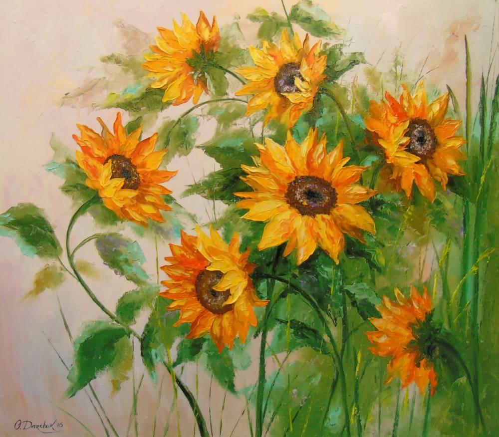 Bức vẽ những bông hoa hướng dương đẹp