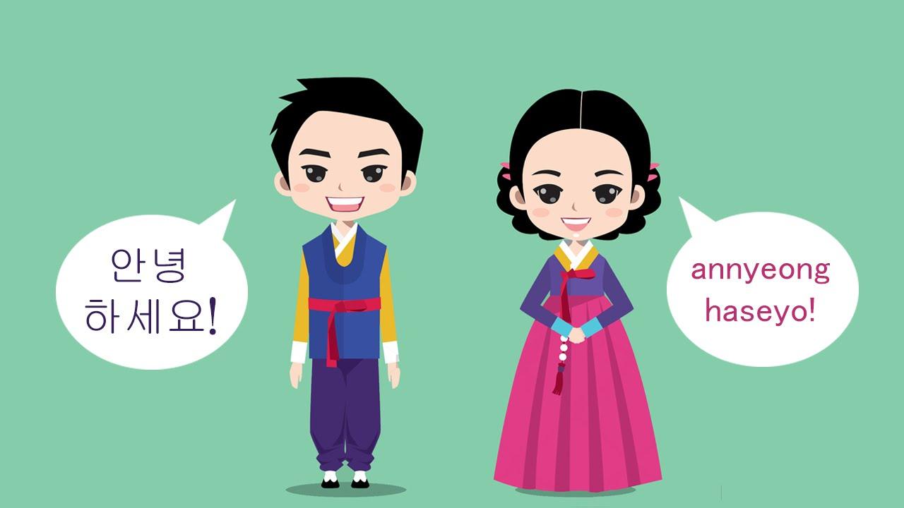 Slide chào tiếng Hàn mở đầu
