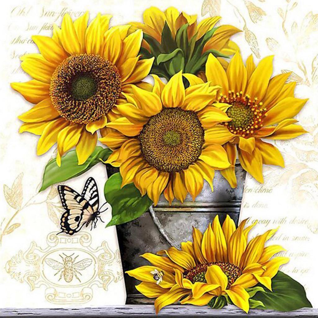 Tranh vẽ hoa hướng dương 5D cực đẹp