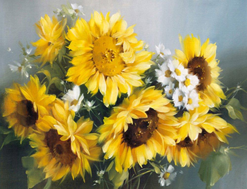 Tranh vẽ hoa hướng dương 5D đẹp