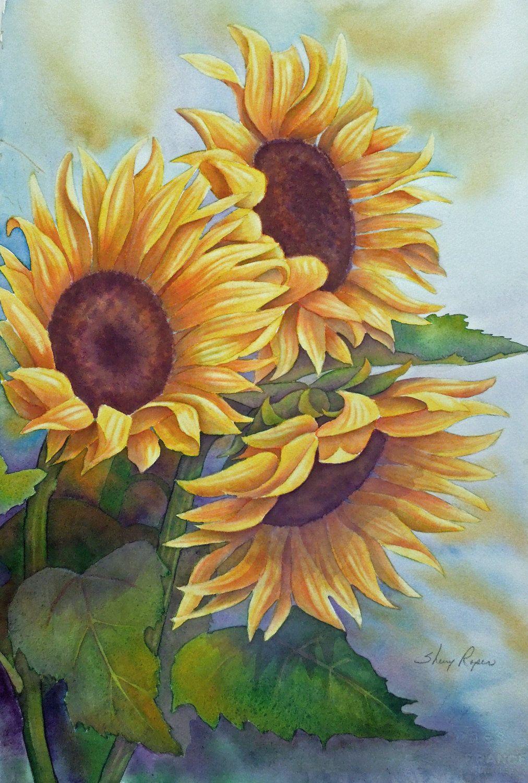 Tranh vẽ hoa hướng dương đẹp và có hồn