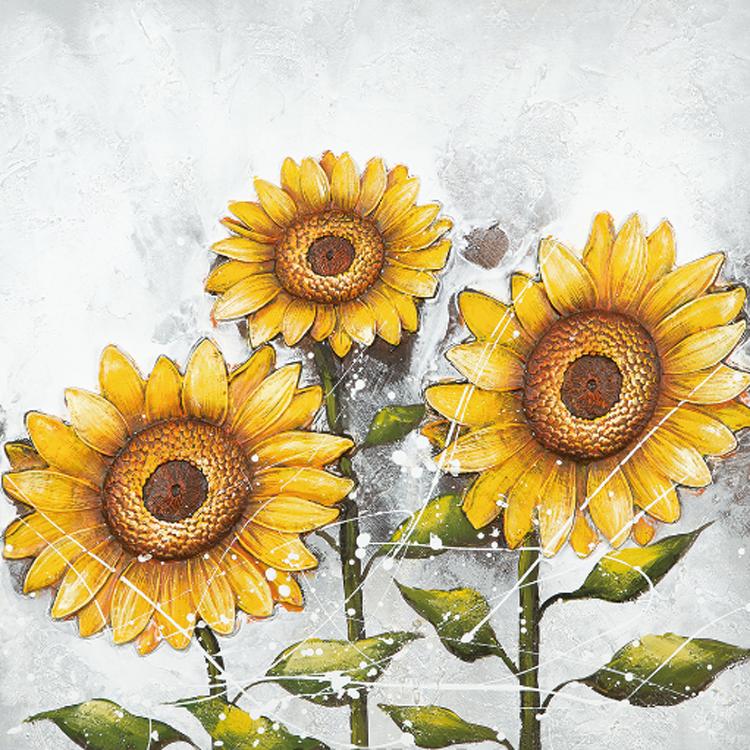 Tranh vẽ hoa hướng dương trên phần mềm đẹp nhất