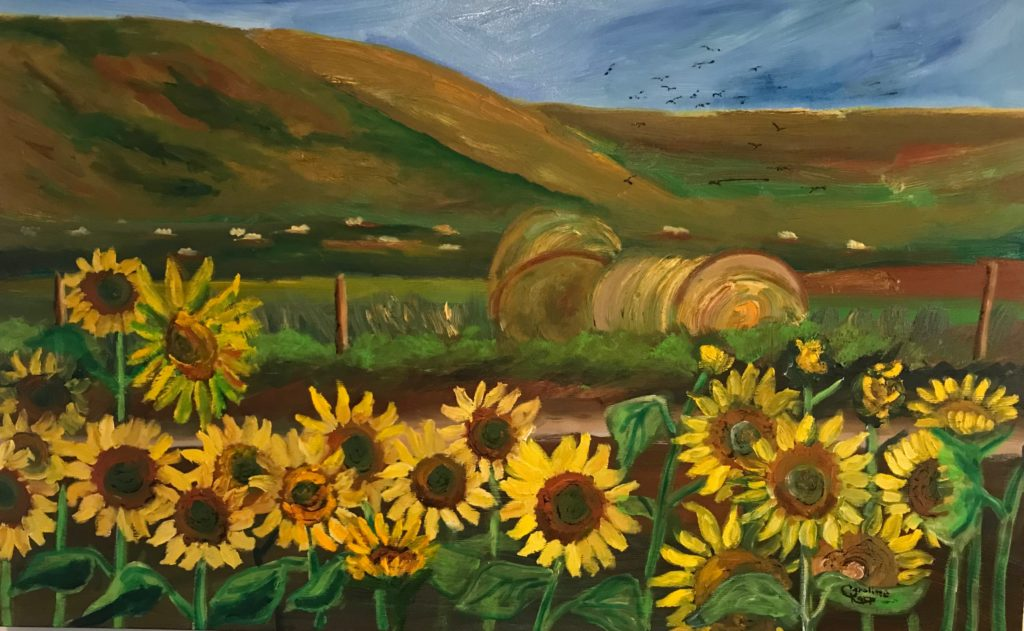 Traveling in the Sunflowers