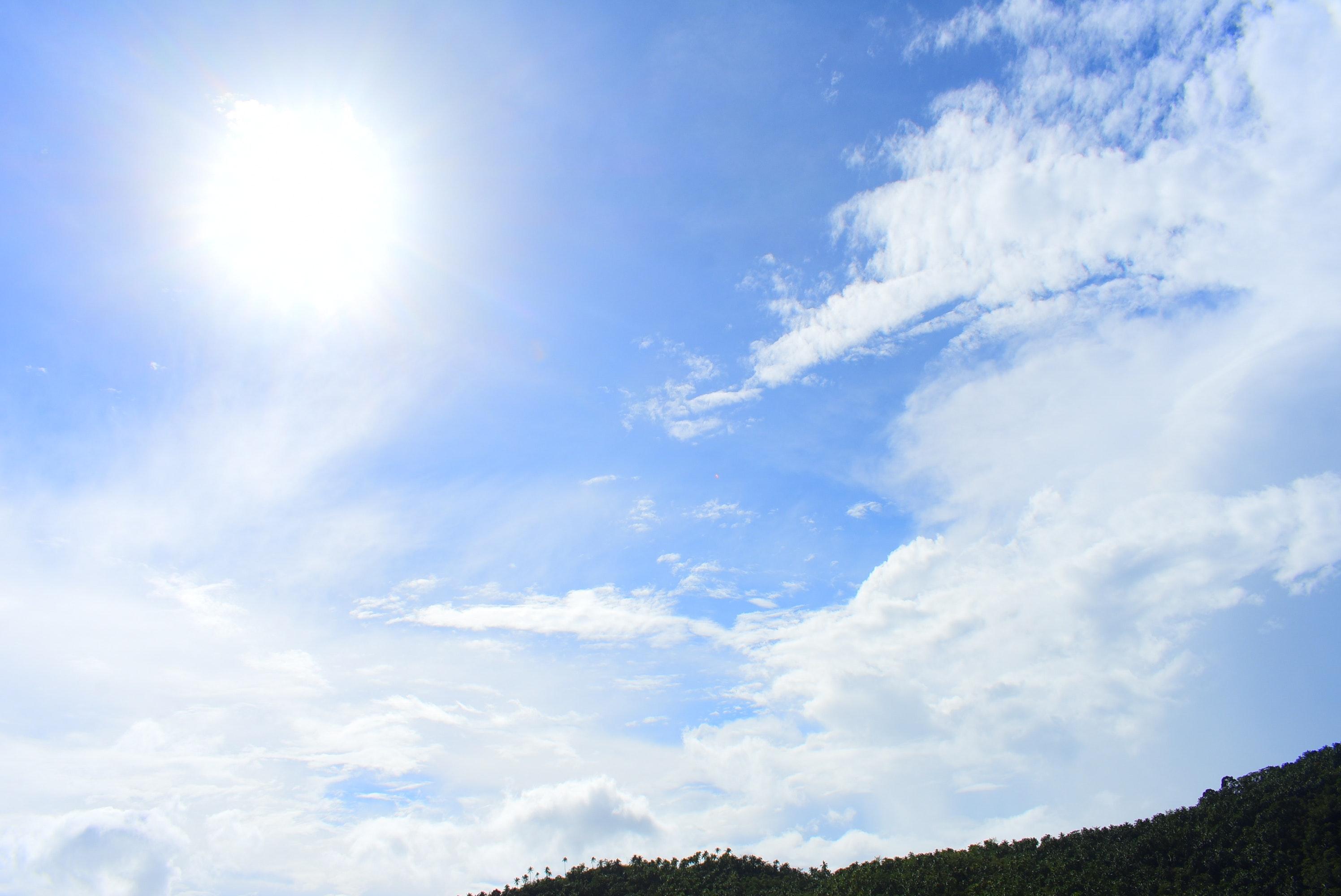 Hình ảnh trời xanh mây trắng nắng vàng cực đẹp