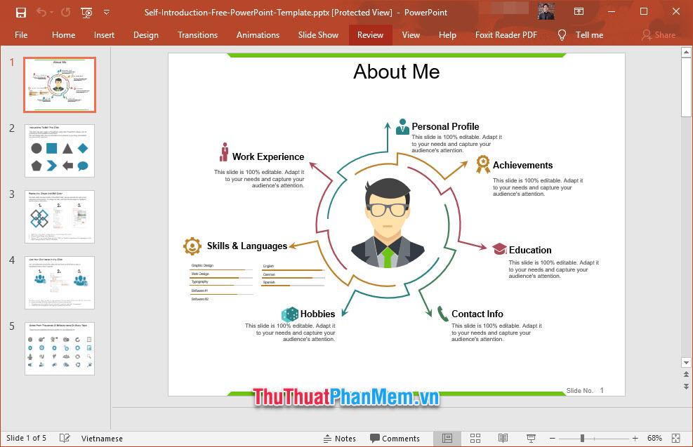 Slide giới thiệu nhiều lĩnh vực về bản thân