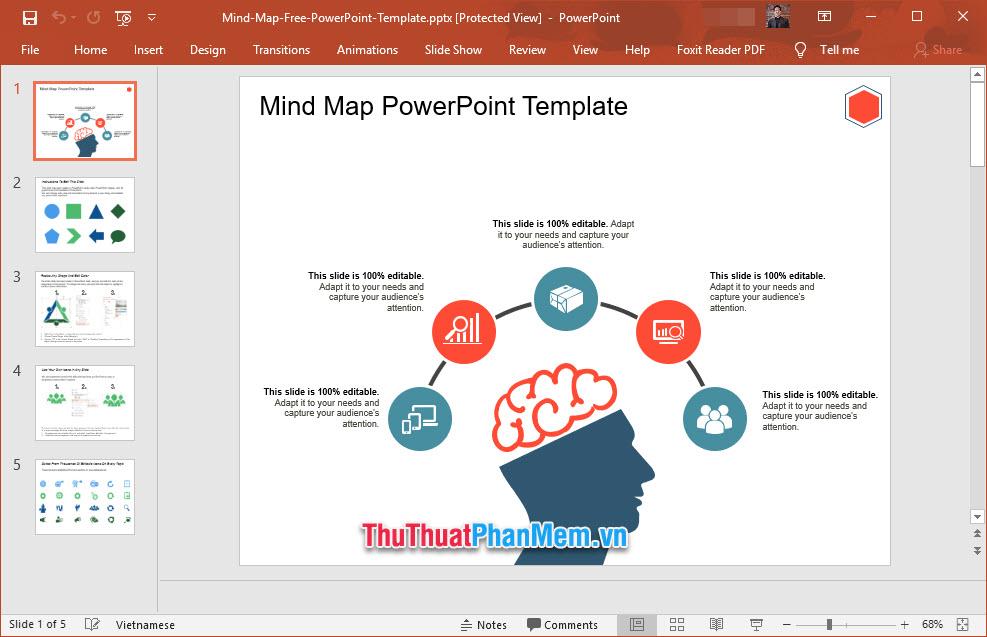 Slide giới thiệu sơ đồ trí tuệ của bản thân
