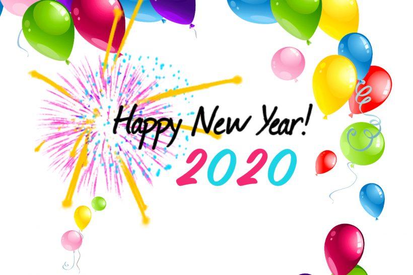 Ảnh chúc mừng năm mới 2020 đơn giản mà đẹp