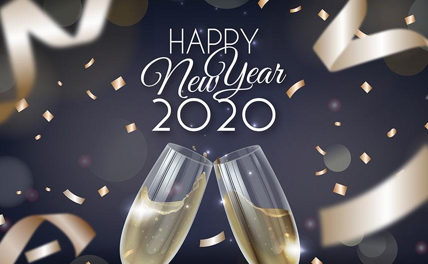 Ảnh chúc mừng năm mới đơn giản