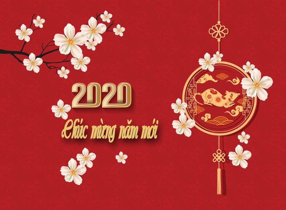 Ảnh mừng năm mới 2020 đơn giản mà đẹp