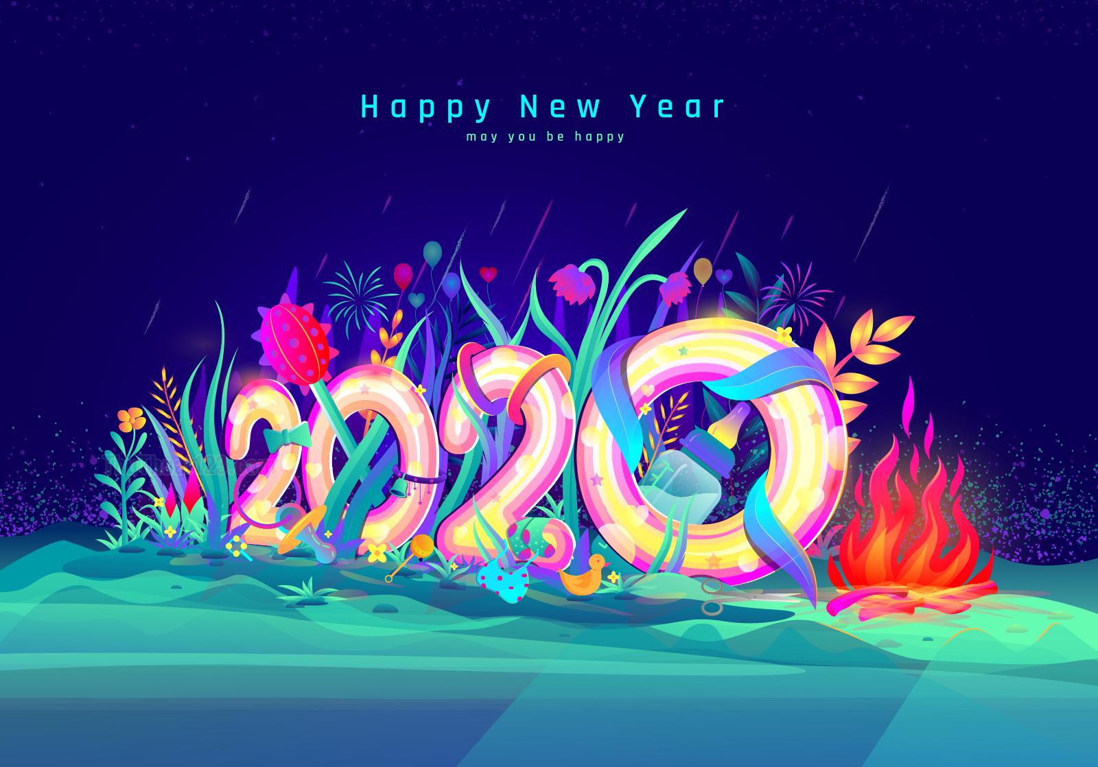 Hình ảnh chúc mừng năm mới 2020