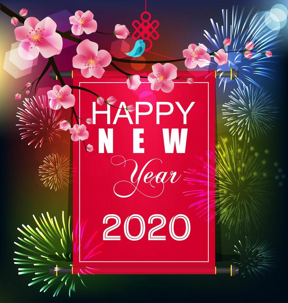 Hình ảnh chúc mừng năm mới Canh Tý