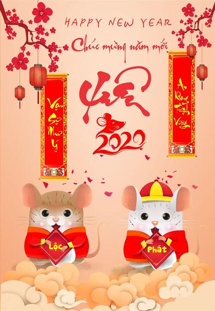 Hình ảnh chúc mừng năm mới Xuân Canh Tý