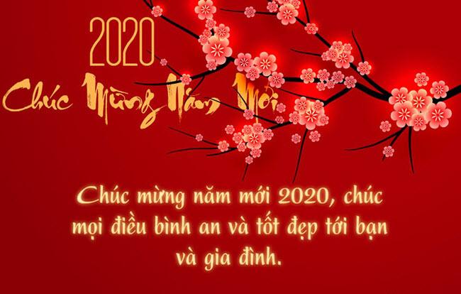 Lời chúc mừng năm mới 2020 đơn giản