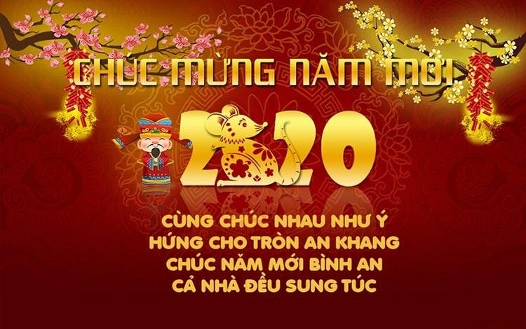 Lời chúc mừng năm mới 2020 hay nhất