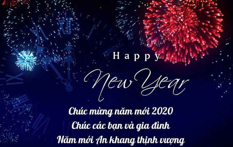 Lời chúc mứng năm mới 2020 ý nghĩa