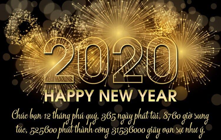 Lời chúc mừng năm mới 2020